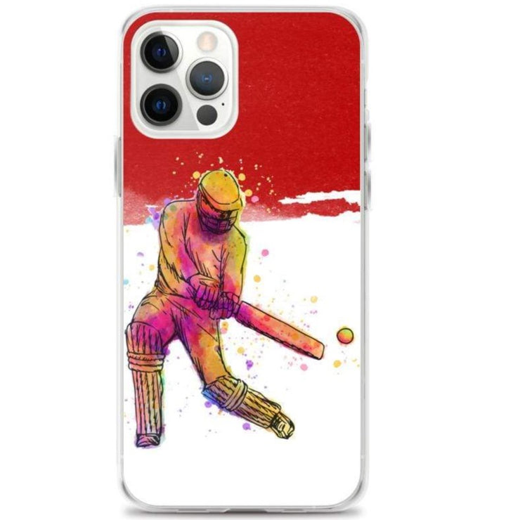 Woolly Mammoth Media iPhone 12 Pro Red Cricket iPhone Case Cover