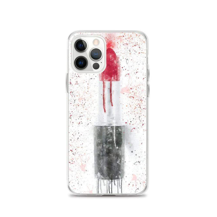 Woolly Mammoth Media iPhone 12 Pro Red Lipstick Art iPhone Case Cover