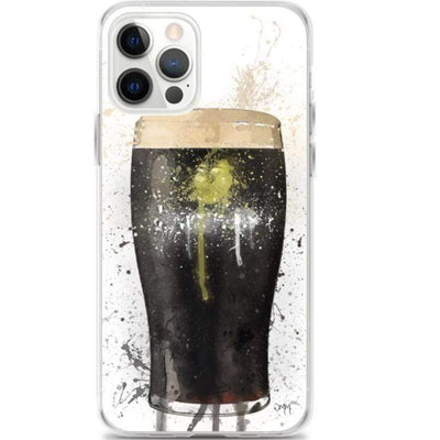 Woolly Mammoth Media iPhone 12 Pro Stout Pint Glass iPhone case Cover Guinness