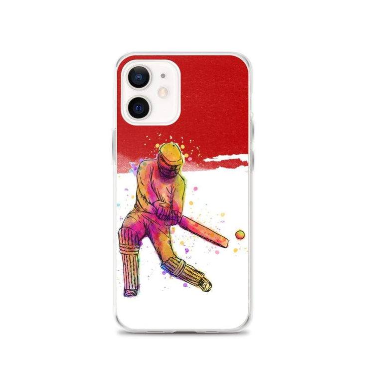 Woolly Mammoth Media iPhone 12 Red Cricket iPhone Case Cover