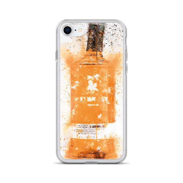Woolly Mammoth Media iPhone 7/8 Zesty Orange Gin Bottle Splatter Art iPhone Case