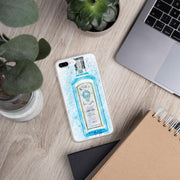 Woolly Mammoth Media iPhone 7 Plus/8 Plus Blue Gin Bottle Splatter Art iPhone Stylish Case Cover