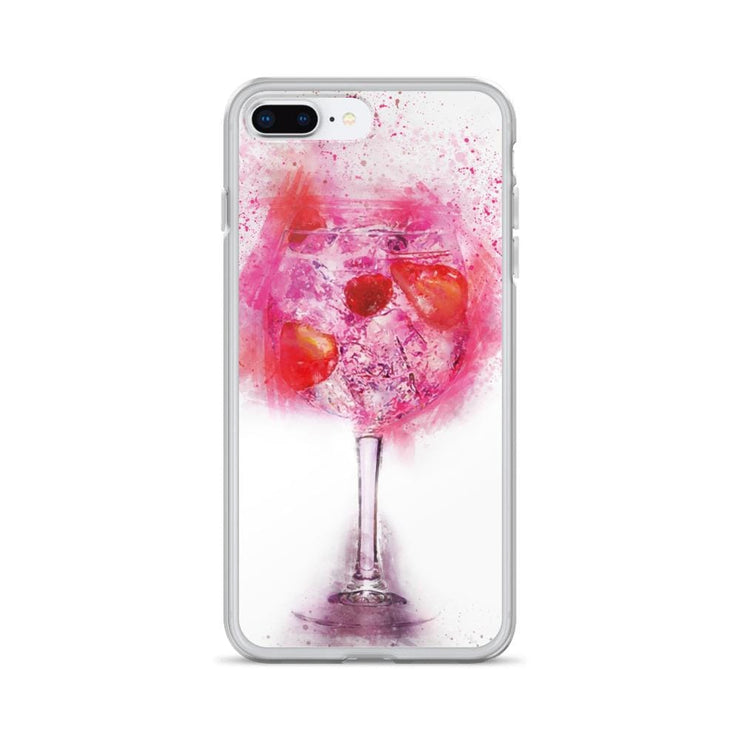 Woolly Mammoth Media iPhone 7 Plus/8 Plus Pink Gin Glass iPhone Case