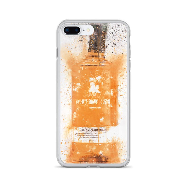 Woolly Mammoth Media iPhone 7 Plus/8 Plus Zesty Orange Gin Bottle Splatter Art iPhone Case