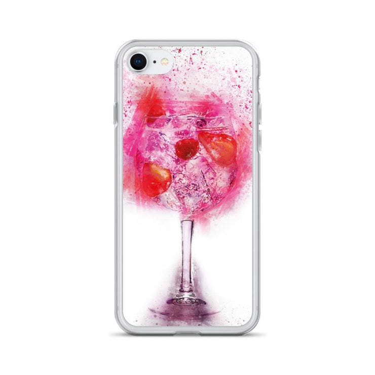 Woolly Mammoth Media iPhone SE Pink Gin Glass iPhone Case