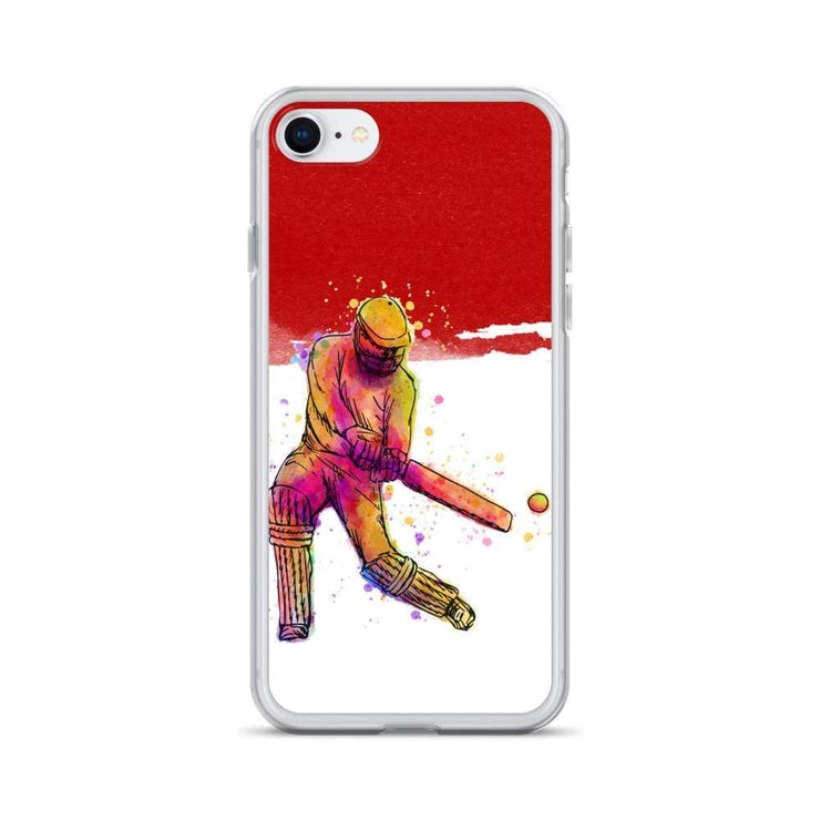Woolly Mammoth Media iPhone SE Red Cricket iPhone Case Cover