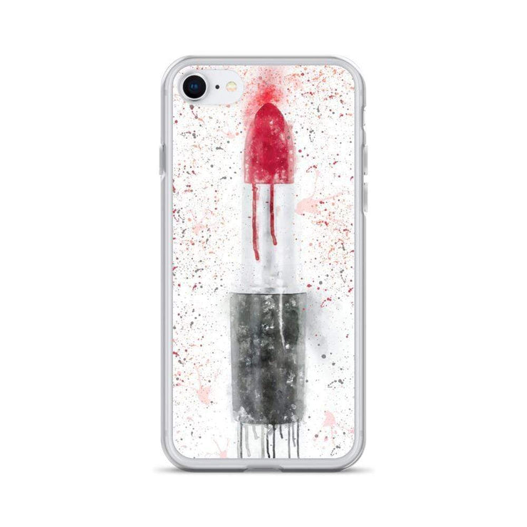 Woolly Mammoth Media iPhone SE Red Lipstick Art iPhone Case Cover