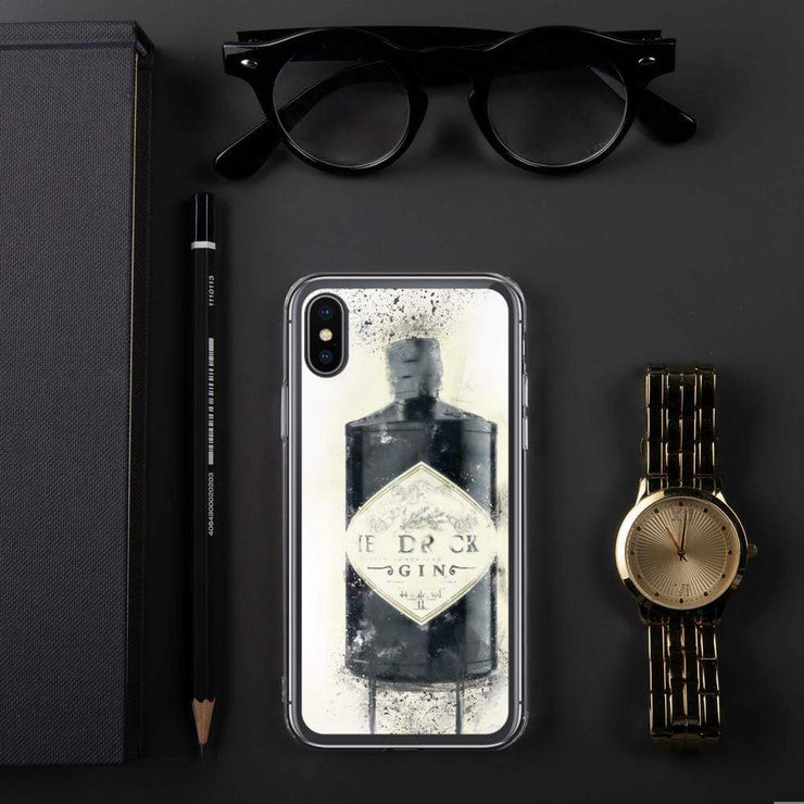 Woolly Mammoth Media iPhone X/XS Black Gin Bottle iPhone Case - Hendricks Inspired