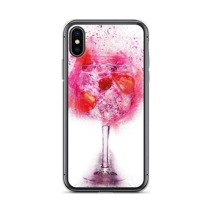 Woolly Mammoth Media iPhone X/XS Pink Gin Glass iPhone Case