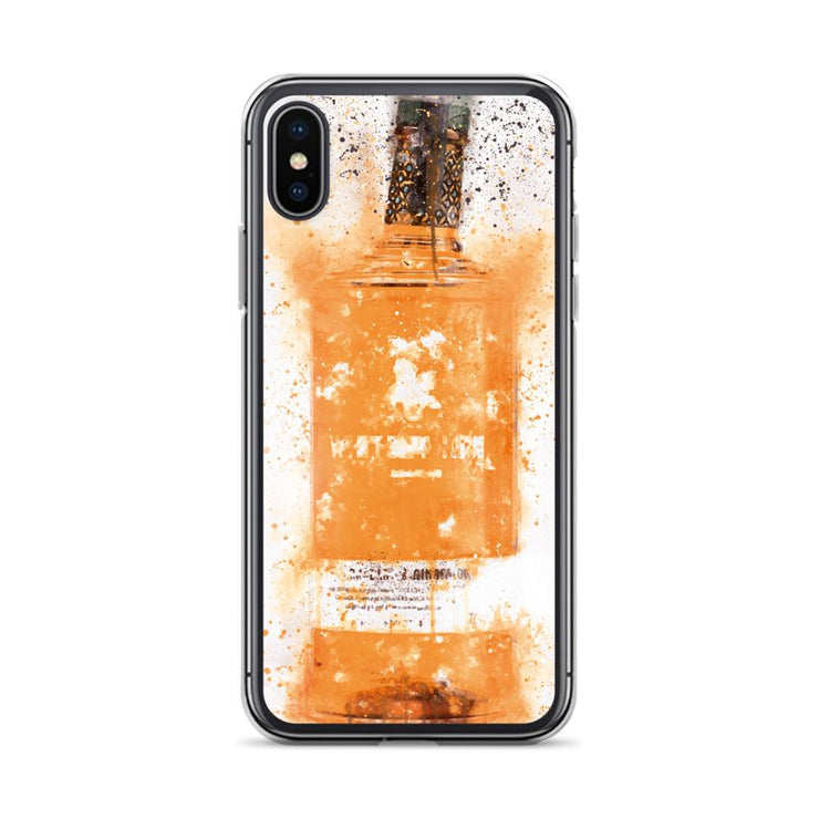 Woolly Mammoth Media iPhone X/XS Zesty Orange Gin Bottle Splatter Art iPhone Case