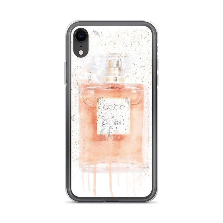 Woolly Mammoth Media iPhone XR Coral Perfume Bottle iPhone Case