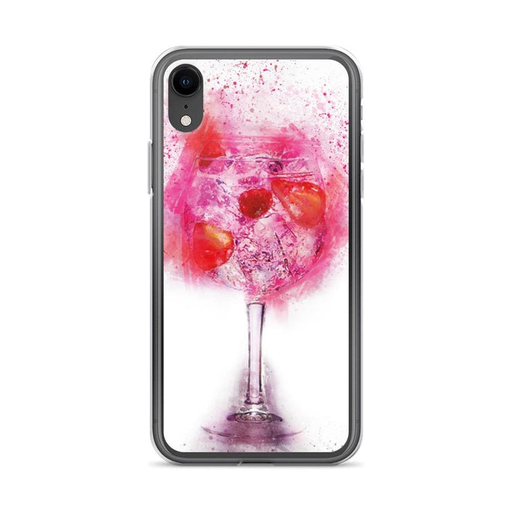 Woolly Mammoth Media iPhone XR Pink Gin Glass iPhone Case