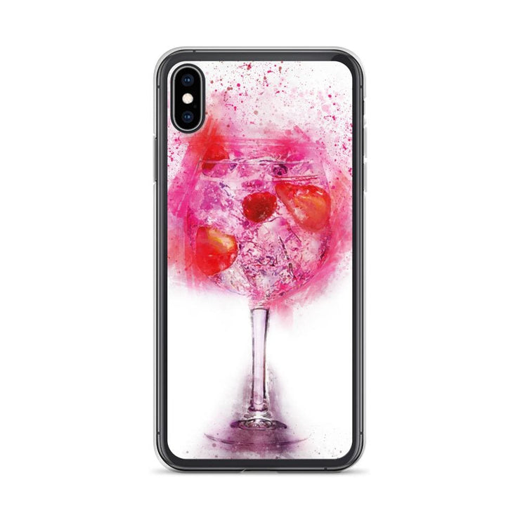 Woolly Mammoth Media iPhone XS Max Pink Gin Glass iPhone Case