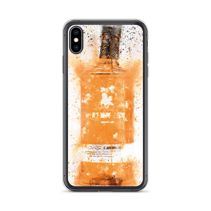 Woolly Mammoth Media iPhone XS Max Zesty Orange Gin Bottle Splatter Art iPhone Case