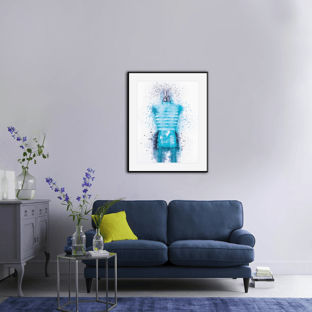 Woolly Mammoth Media Le Male Aftershave Bottle Wall Art Print