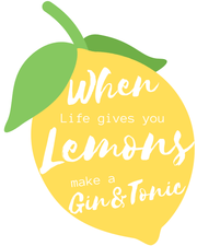 Woolly Mammoth Media Life Gives you Lemons Make Gin set of 2 wall art prints