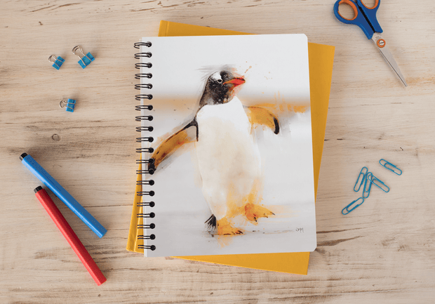 Woolly Mammoth Media Penguin Waddles Art Notebook