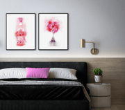 Woolly Mammoth Media Pink Gin and Tonic Glass Wall Art