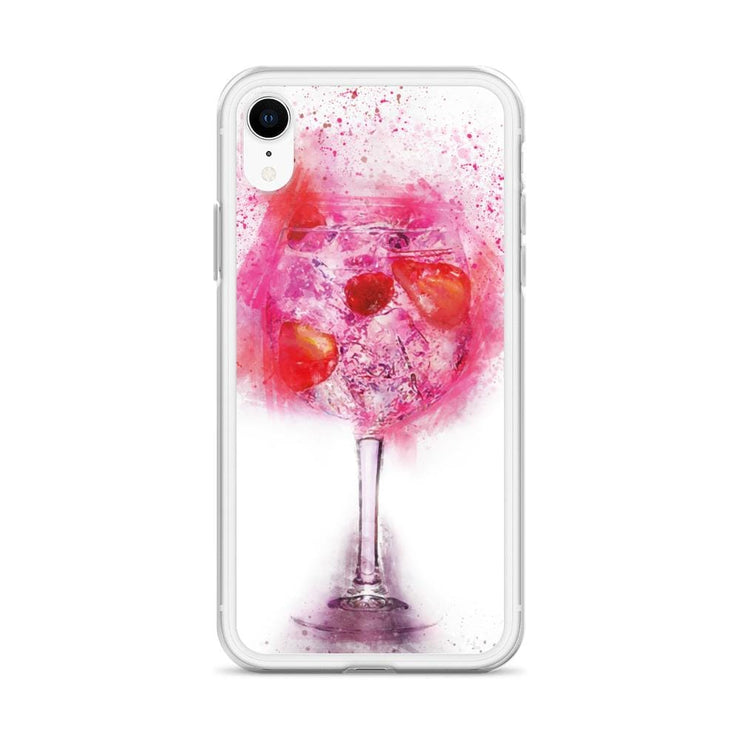 Woolly Mammoth Media Pink Gin Glass iPhone Case