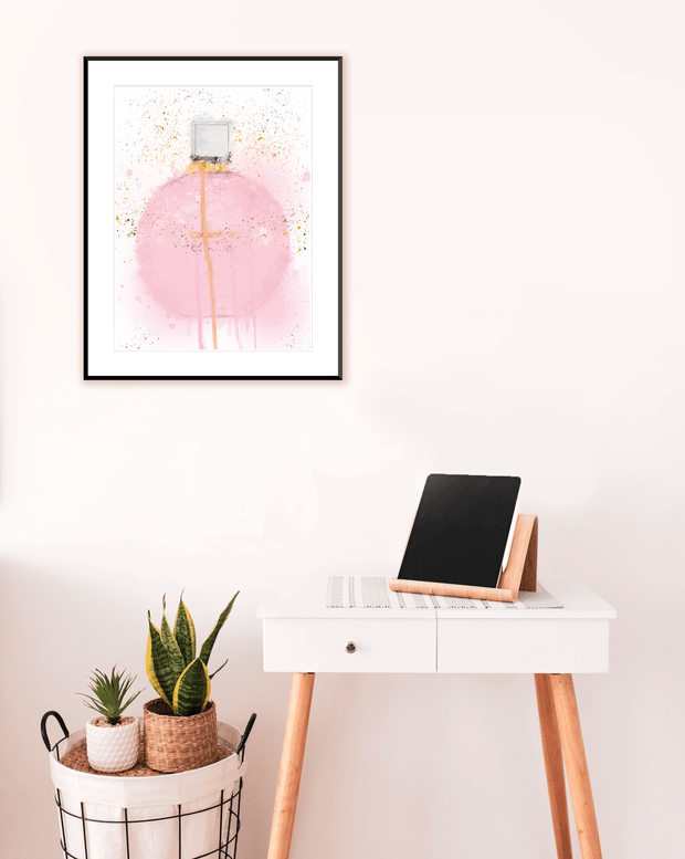 Woolly Mammoth Media Pink Pastel Perfume Wall Art Print