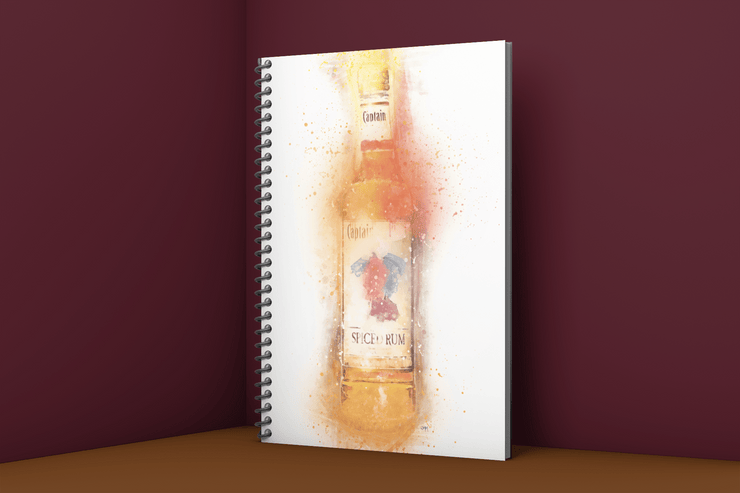 Woolly Mammoth Media Rum Bottle Art Notebook