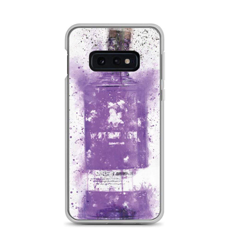 Woolly Mammoth Media Samsung Galaxy S10e Samsung Purple Gin Bottle Case Cover