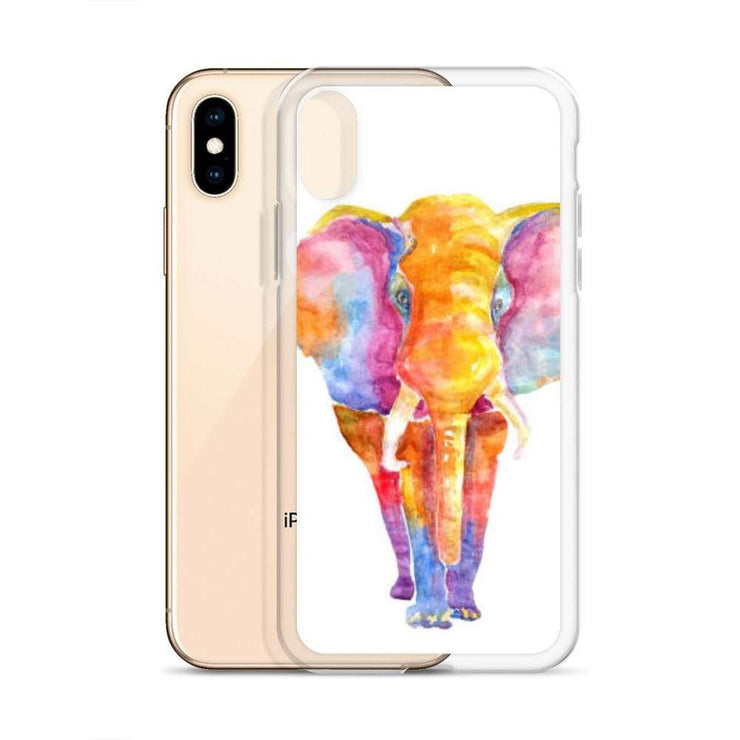 Woolly Mammoth Media Vibrant Elephant colourful Art iPhone Case Cover Animal Wildlife