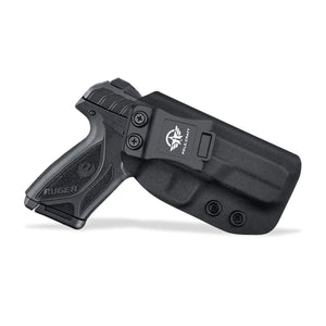 IWB Kydex Holster Custom Fit: Ruger Security 9 Pistol - Inside Waistband Concealed Carry - Adj. Cant Retention - Cover Mag-Button - No Wear - No Jitter - Right Hand - PoLe.Craft Holster & Knives