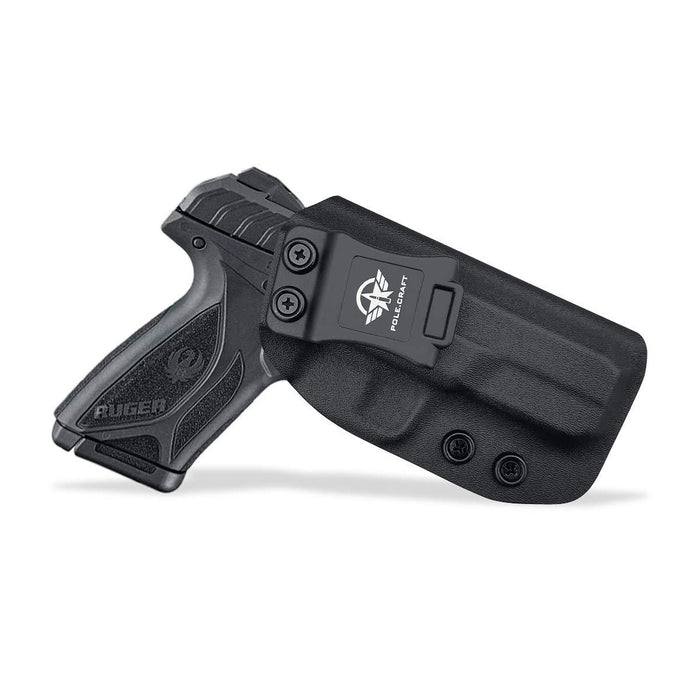 IWB Kydex Holster Custom Fit: Ruger Security 9 Pistol - Inside Waistband Concealed Carry - Adj. Cant Retention - Cover Mag-Button - No Wear - No Jitter - Right Hand