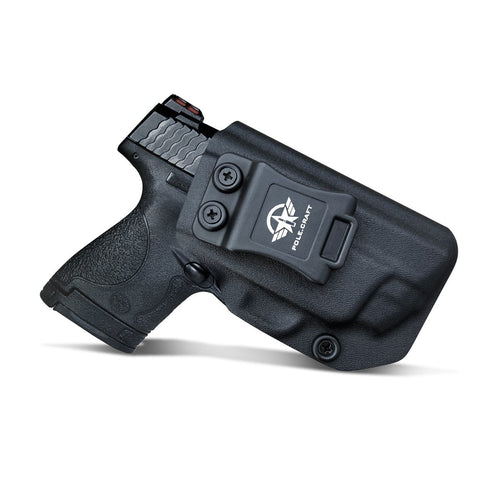 Kydex IWB Holster Fit: Smith & Wesson M&P 45 Shield M2.0 9mm .40 S&W / Crimson Trace Laser Concealed Carry - Inside Waistband Carry Concealed Holster M&P Shield 9mm - Black
