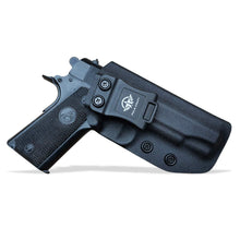 Load image into Gallery viewer, IWB Kydex Holster Colt 1911 Commander .45 / 4.5 Inch Concealed Carry - IWB 1911 Commander Holster - Concealed 1911 Holster IWB - Kydex IWB Holster 1911 Concealed - Black