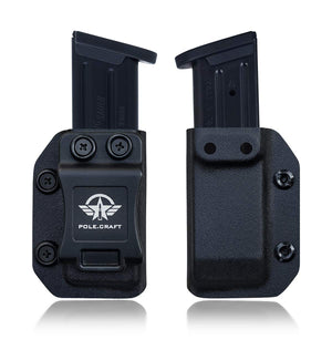 Sig Sauer P226/P227/P250/P320 Magazine Holster - Ruger SR9/SR9C Magazine Holder - Beretta 92 Magazine Case - 9mm/.40 Double Stack MAG Carrier - Kydex IWB/OWB