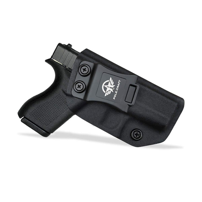 Kydex IWB Holster Custom Fits: Glock 42 Concealed Carry - Inside Waistband Carry Concealed Holster Glock 42 Pistol Case Guns Accessories - Point Touching - No Wear - No Jitter - Black