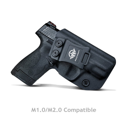 Kydex IWB Holster Fit: Smith & Wesson M&P Shield 9mm .40 S&W Pistol Case Concealed Carry - Inside Waistband Carry Concealed Holster M&P Shield 9mm .40 - Black