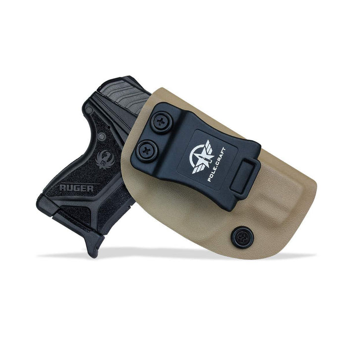 Kydex IWB Holster Custom Fits: Ruger LCP II - LCP 2 Pistol Case Pocket Inside Waistband Carry Concealed Holster IWB Pistol Pouch Gun Accessories - Point Touching - No Wear - No Jitter - Tan