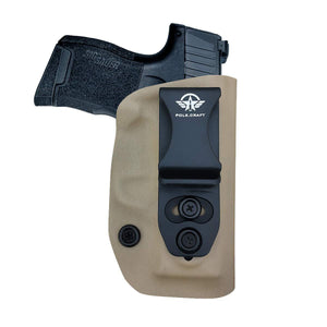 IWB Kydex Holster Fit: Sig Sauer P365 Concealed Carry - Kydex Holster for Sig Sauer P365 IWB Holster Sig 365 Accessories - IWB Concealed Holster P365 Pistol Case - Tan