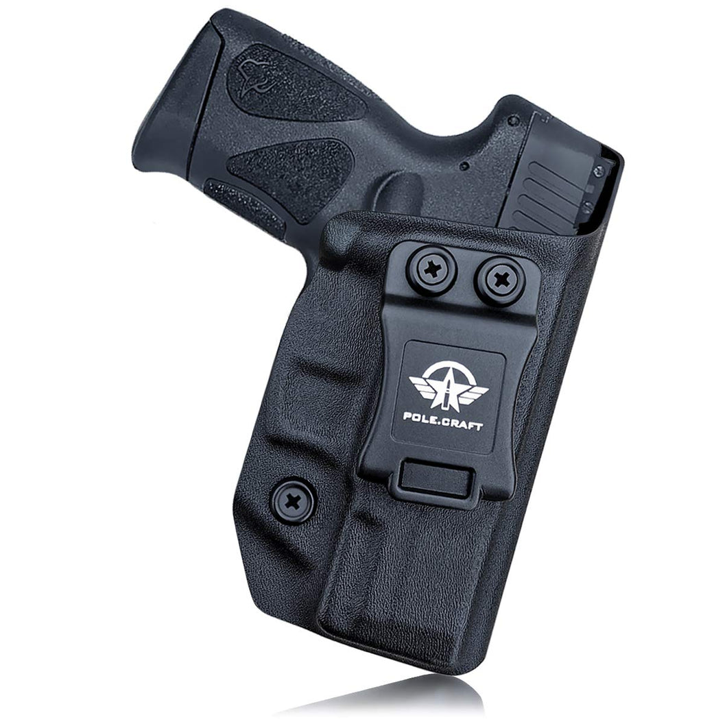 Taurus G3C Holster, Taurus G2C Holsters, IWB Kydex Holster For Taurus G3C 9mm / G2C 9mm G2S / Millennium PT111 G2 / PT140 9mm Case - Inside Waistband Concealed Holster Widened Entrance, No Wear, No Jitter - Black