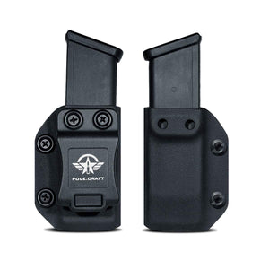 IWB/OWB Glock Magazine Holster Kydex - Glock Mag Carrier - Available Model: 9mm/.40 Double Stack Magazines for: Glock 17 Glock 19 22 23 25 26 27 31 32 33 34 35 37 38 39 Magazines Holder Case - PoLe.Craft Holster & Knives
