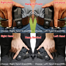 Load image into Gallery viewer, Kydex IWB Holster Custom Fit Sig Sauer P320 Full Size / P320 Carry / P320 Compact Medium Pistol Case - Inside Waistband Carry Concealed Holster P320 Gun Accessories - Point Touch - No Wear - No Jitter - Black