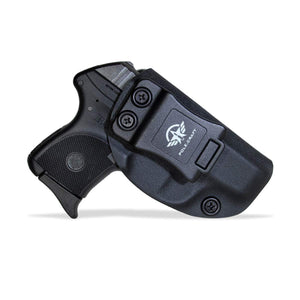 IWB Tactical KYDEX Holster Custom Fits: Ruger LCP 380 Gun Case Inside Waistband Carry Concealed Holster Pistol Pouch Bag Accessories - Black - PoLe.Craft Holster & Knives