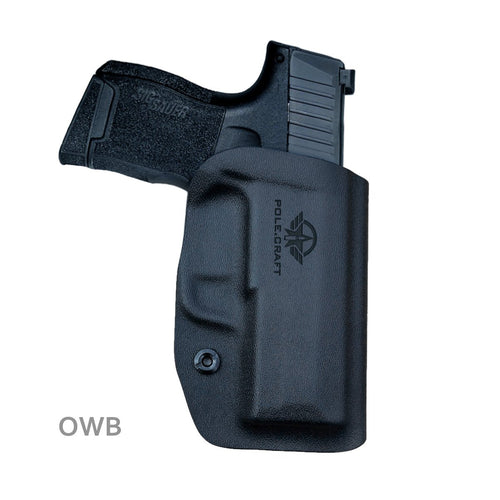 Kydex OWB Holster Fit: Sig Sauer P365 Holsters P365 SAS Gun Pistol Case - Sig Sauer P365 OWB Holster - Waistband Outside Carry - 1.5-2 Inch Belt Clip with Lock - Adj. Width Height Cant, Entrance Widen - Black
