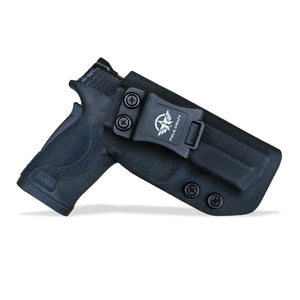 KYDEX IWB Holster M&P Shield 380 EZ For concealed Carry M&P 380 EZ Holster - S&W 380 EZ IWB Holster M&P Shield 380 EZ Concealed Holster 380 EZ Accessories - Black - PoLe.Craft Holster & Knives