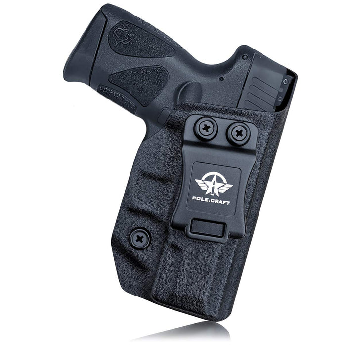 Taurus G2C Holsters, Kydex IWB Holster For Taurus G2C 9mm & Millennium PT111 G2 / PT140 9mm Pistol Case - Inside Waistband Concealed Carry Holster Taurus G2C 9mm - Widened Entrance, No Wear, No Jitter - Black