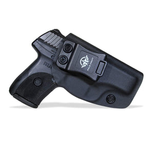KYDEX IWB Holster LC9 Concealed Carry Holster Ruger LC9S Holster Concealed - Kydex Holster for Ruger LC9 Accessories - IWB Concealed Holster Pistol Case - Black - PoLe.Craft Holster & Knives