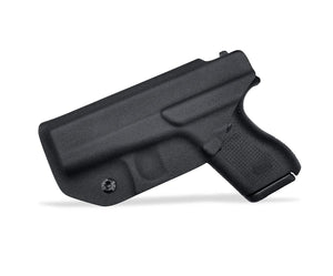 Kydex IWB Holster Custom Fits: Glock 42 Concealed Carry - Inside Waistband Carry Concealed Holster Glock 42 Pistol Case Guns Accessories - Point Touching - No Wear - No Jitter - Black - PoLe.Craft Holster & Knives