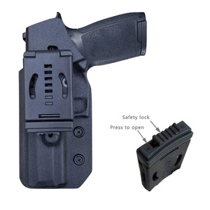 OWB Kydex Holster Custom Fit: Sig Sauer P320 Carry / P320 Full Pistol - Outside Waistband Carry / 1.5-2 Inch Belt Clip - Adj. Width Height Retention Cant, Entrance Widened