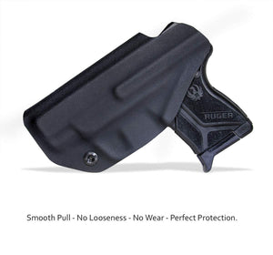 Kydex IWB Holster Custom Fits: Ruger LCP II - LCP 2 Pistol Case Pocket Inside Waistband Carry Concealed Holster IWB Pistol Pouch Gun Accessories - Point Touching - No Wear - No Jitter - Black