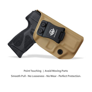 Taurus G2C Holsters, Kydex IWB Holster For Taurus G2C 9mm & Millennium PT111 G2 / PT140 9mm Pistol Case - Inside Waistband Concealed Carry Holster Taurus G2C 9mm - Widened Entrance, No Wear, No Jitter - Tan