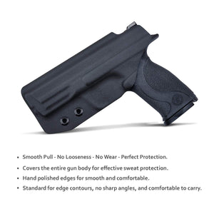 "IWB KYDEX Holster M&P 40 Full Size 4.25"" 9mm 40 S&W Pistol Case Inside Waistband Carry Concealed Holster Gun Accessories - Black"