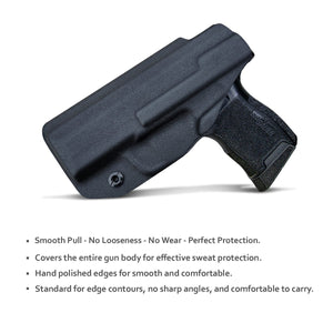 KYDEX IWB Holster P365 Sig Sauer 365 Holsters for Concealed Carry - Kydex Holster for Sig Sauer P365 IWB Holster Sig 365 Accessories - IWB Concealed Holster Pistol Case - Black - PoLe.Craft Holster & Knives